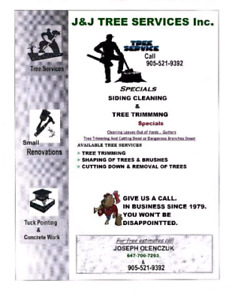 Tree Trimming and Removal Services. . FREE Estimates! !