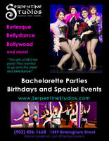 Burlesque Bachelorettes, Bellydance Parties and more!