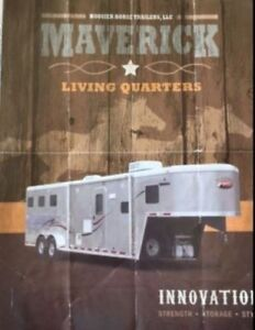Maverick-Beautiful Triple Horse Trailer with Living Qtrs