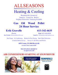 Air Conditioners starting at $39.99/month