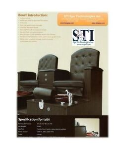 Pedicure bench chair, & pipeless foot bath, salon spa equipment