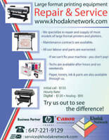 Plotter / printer wide format repair and service , supplies.
