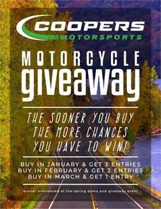 Buy a new bike from Coopers & get up to a 1-20 chance to win it