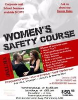 Women's Basic Self Defense, Safety & Awareness courses
