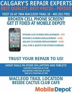 Samsung Glass Repair. $49.00 All Cell Phone Repairs! Same Day!