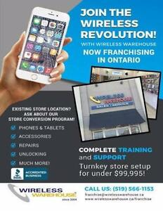 Wireless Warehouse Franchise Opportunity - Join the Wireless Revolution Today- For Under $45k - Wireless Phones/Tablets