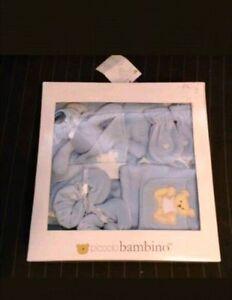 Piccolo Bambino Baby 5 Piece Blue Velour Cotton Set