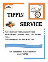 East Indian homemade food - Tiffin service