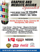 Graphic, 3D, Web and Print Production Specialist