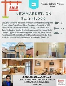 BEAUTIFUL NEWMARKET HOME FOR SALE - 4+1BED 4 BATH