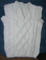 Hand knitted baby vest - finished garment