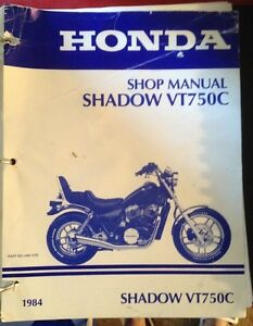 Complete shop manual for 1984 Shadow VT750C
