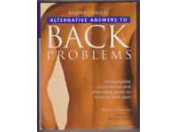ALTERNATIVE ANSWERS TO BACK PROBLEMS :