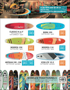Stand Up Paddle (SUP) / Paddleboard - Plusieurs spéciaux