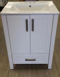 "24"" White Vanity w White Vitreous Top"