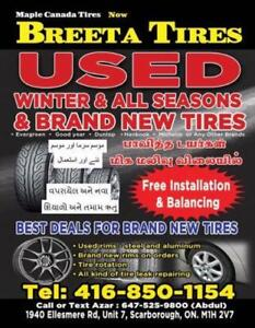 Used tires and good quality brand new chines and all major brands.