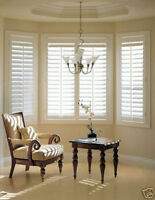 "California Style, 2"" White 42""wide x64"" Faux Wood blinds X4"