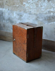 Antique wooden cases