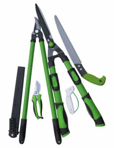 New Gardening Tool Set-5 Piece - Lopper - Hedge Shear -Saw