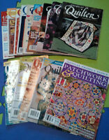 Quilting magazines (14 for $15)