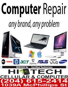 COMPUTER & LAPTOP REPAIR..VIRUS/MALWARE/POP up REMOVAL