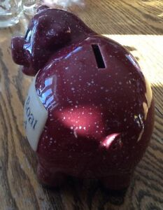 VINTAGE J & D DESIGNS PIGGY BANK. NEW BOAT FUND. SAVINGS. COIN Gatineau Ottawa / Gatineau Area image 2