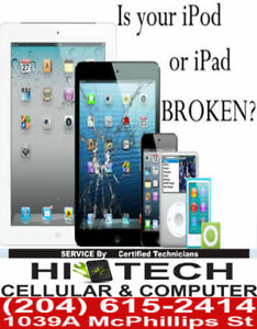 iPAD/iPOD REPAIR SERVICE, CHEAPEST IN WINNIPEG@@204-615-2414