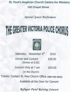 Greater Victoria Police Choir DINNER + CONCERT in Nanaimo