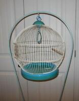 Vintage-Retro Bird cage with stand