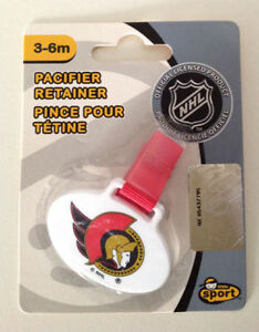 Ottawa Senators Baby Pacifier retainer clips - official NHL Cambridge Kitchener Area image 1