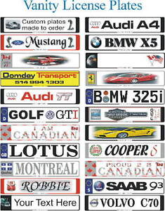 ** CUSTOM EUROPEAN LICENSE PLATES ** West Island Greater Montréal image 2
