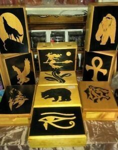 Assorted Hand-painted Wood Boxes, Clocks and Plaques