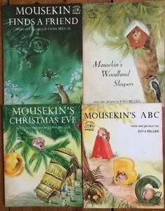 MOUSEKINS Picture Books by Edna Miller $3 each or all 4 for $10 London Ontario image 1