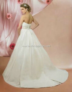 Symphony sz12 Ivory Empire Waist Ball Gown with pockets! $430obo