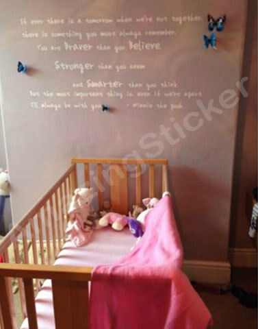 Winnie the Pooh Wall Art Quotes / Wall Stickers / Wall Decals / Wall Mural