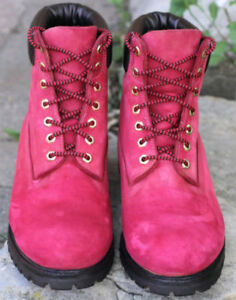 Mens Timberland Boots, Size 10.5, custom Red color