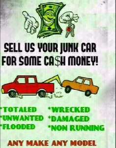 $$$ CASH PAID FOR UNWANTED VEHICLES $$