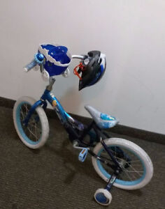 Huffy kid bike, incl helmet & bell, excellent condition