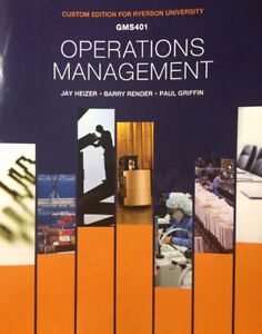 Gms401- Operations Management Textbook