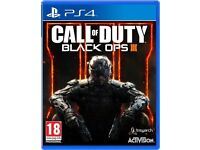 Call Of Duty Black Ops III for PlayStation 4 . Excellent condition