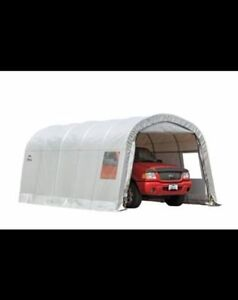 Clearview Roundtop Car Garage, 12 x 20 x 8-ft