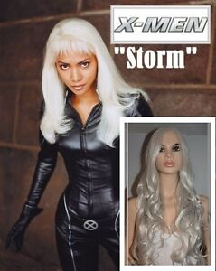 NEW: Deluxe 80cm Grey-Silver Wig for X-Men STORM Costume