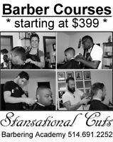 BARBER COURSES STARTING - COURS DE BARBIER $399