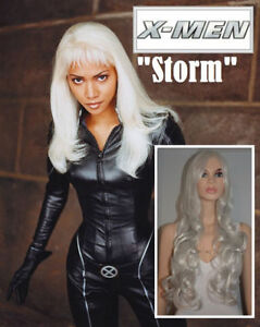 NEW: 80cm Long Deluxe Grey-Silver Wig for X-Men STORM Costume