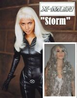 NEW 90cm Deluxe Long Grey-Silver Wig for X-Men STORM Costume