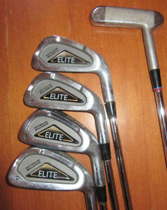 FOUR IRONS AND ONE PUTTER: Men's Right Hand, Spalding Elite, #5 Stratford Kitchener Area image 1