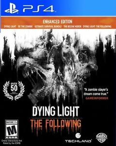 LOOKING FOR DYING LIGHT THE FOLLOWING FOR PS4 Cambridge Kitchener Area image 1