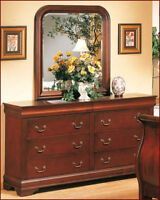 Louis Philippe dresser with mirror cherry color