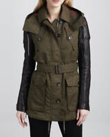 Burberry Brit Leather Sleeve trench coat