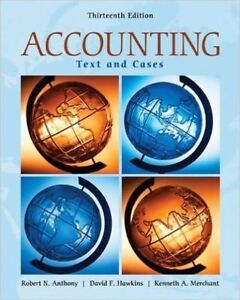 Accounting Text and Cases  Robert Anthony, David Hawkins London Ontario image 1